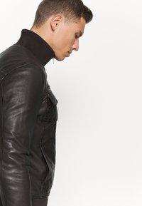 Serge Pariente - DANY - Leather jacket - brown - 4