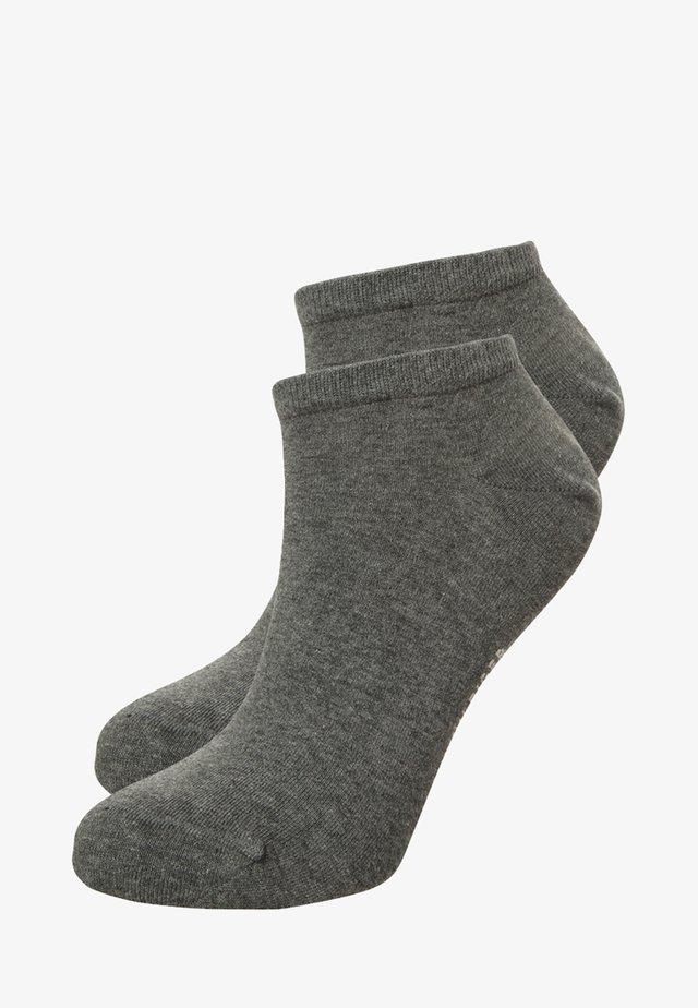 WOMEN SNEAKER 2 PACK - Skarpety - middle grey melange