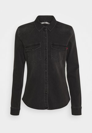 LUCINDA - Button-down blouse - black denim