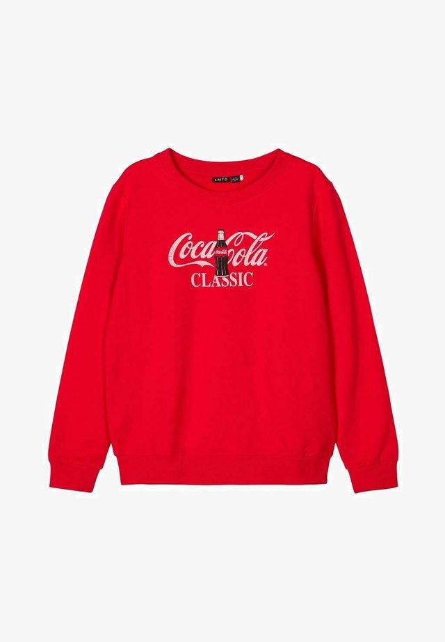 COCA COLA - Collegepaita - high risk red