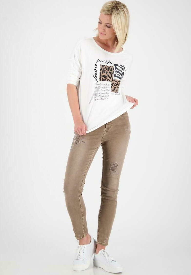 Monari - Long sleeved top - off white