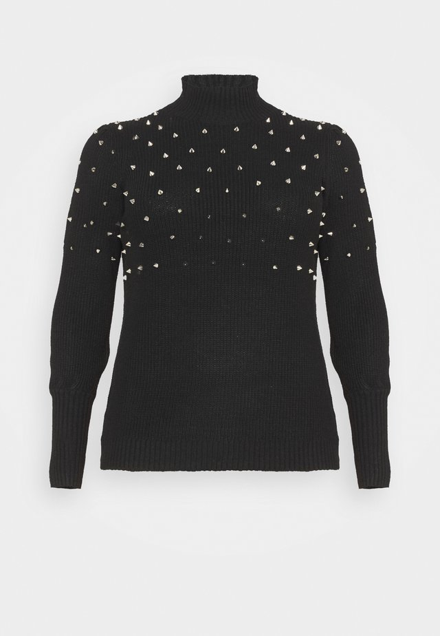 STUD JUMPER  - Strikkegenser - black