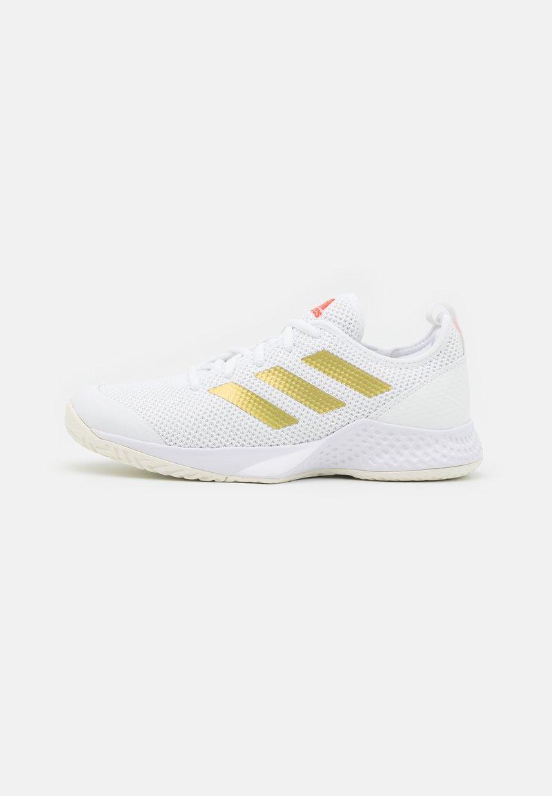 adidas Performance - COURT CONTROL  - Multicourt tennis shoes - footwear white/gold metallic/solar red