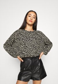 ONLY - ONLZILLE ONECK - Long sleeved top - black - 3