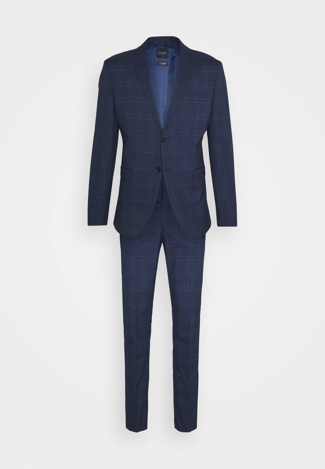 MYLOLOGAN SUIT - Suit - navy blazer/brown