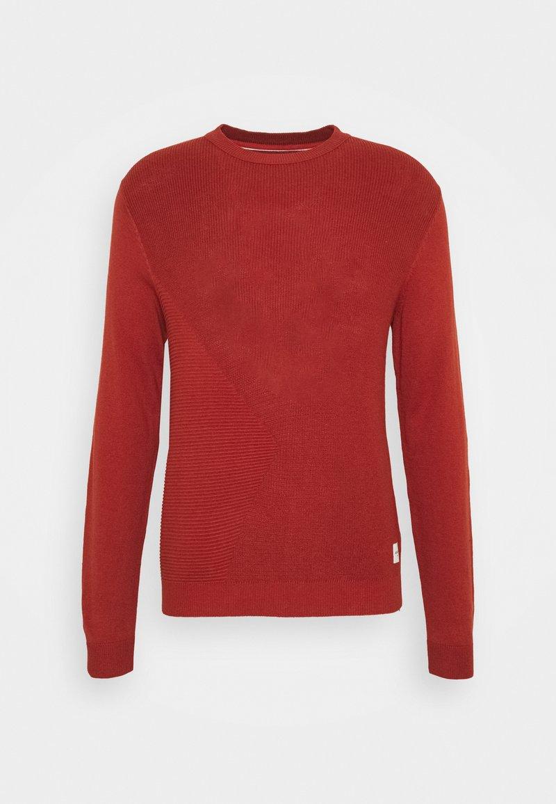 Jack & Jones - JCOWADE - Stickad tröja - red ochre