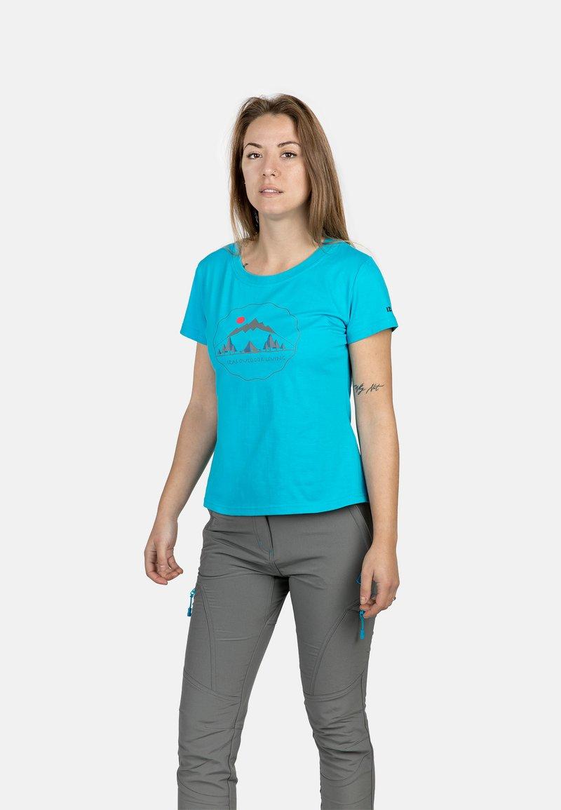 IZAS - T-shirt imprimé - turquoise