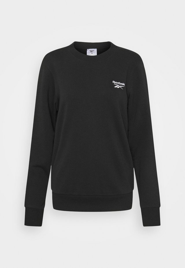 FRENCH TERRY CREW - Sweater - black