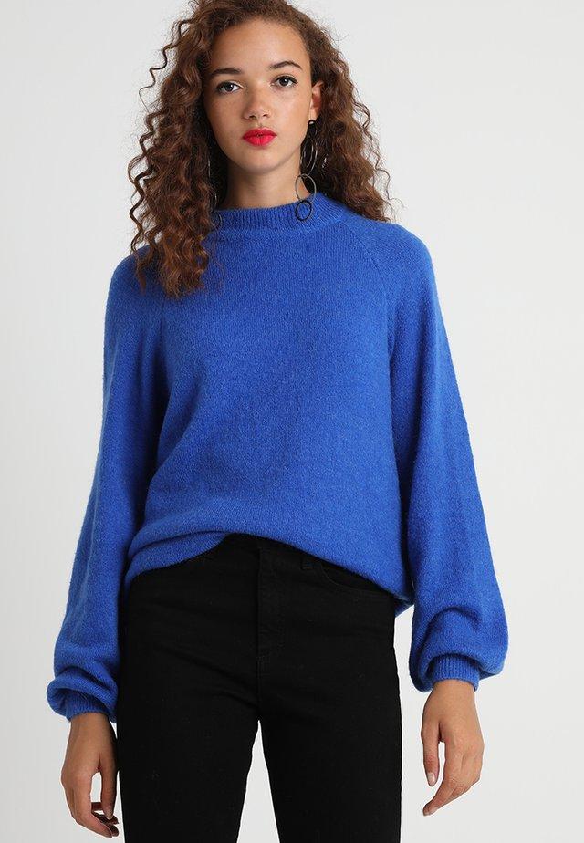 SAVEA - Stickad tröja - snorkel blue melange