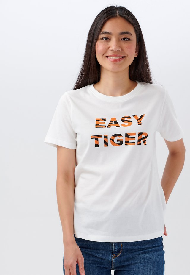 MAGGIE EASY TIGER - T-shirt imprimé - off- white