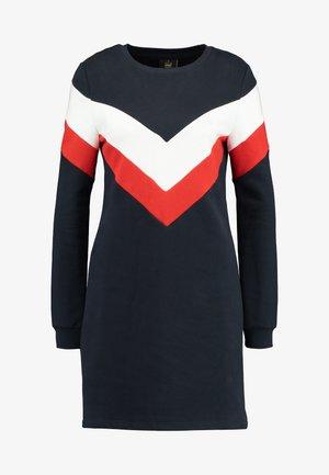 ONLDAKOTA O NECK DRESS - Day dress - night sky/cloud dancer/fiery red