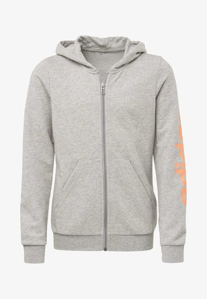 LINEAR HOODIE - Zip-up hoodie - gray