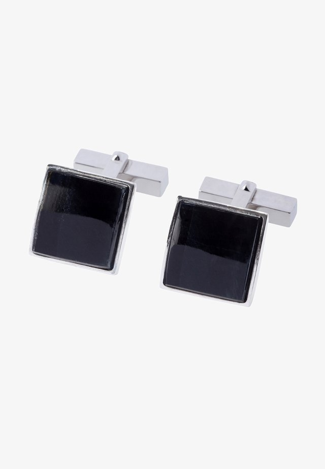Cufflinks - silver-coloured/ dark blue