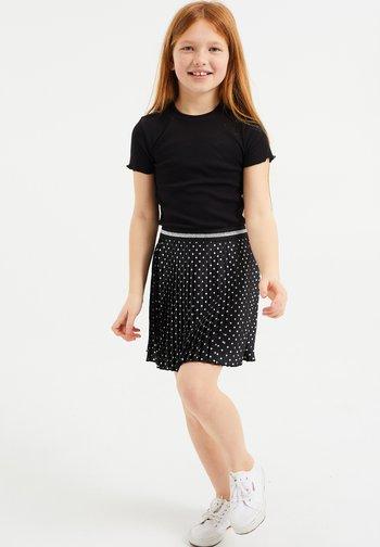 SLIM FIT  - T-shirts basic - black