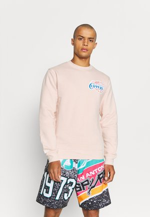 NBA LOS ANGELES CLIPPERS WARM UP PASTEL CREW - Squadra - pink