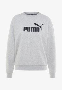 Puma - LOGO CREW - Sweatshirt - light gray heather - 4