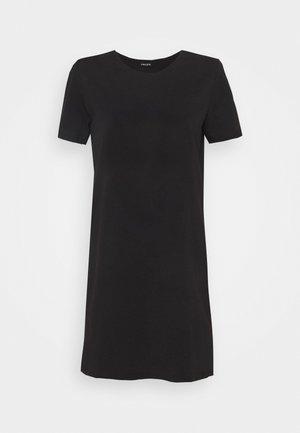 PCFUN TEE DRESS - Žerzejové šaty - black