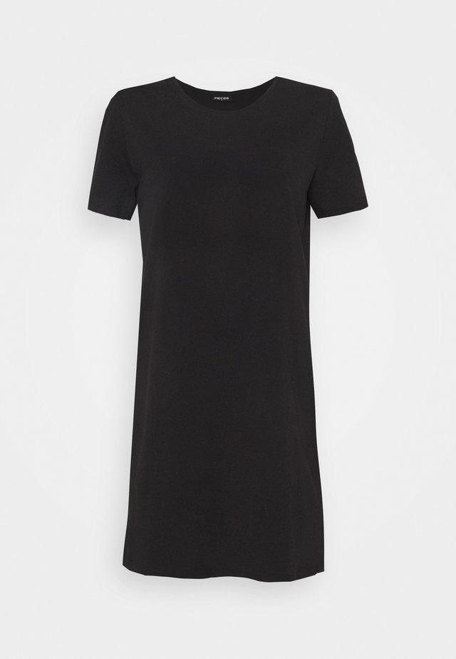 PCFUN TEE DRESS - Sukienka z dżerseju - black