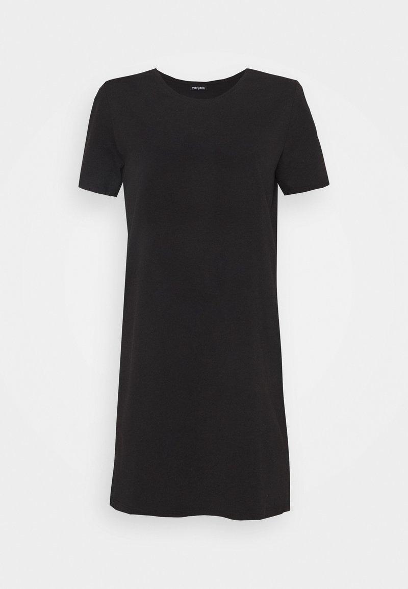 Pieces Petite - PCFUN TEE DRESS - Jersey dress - black