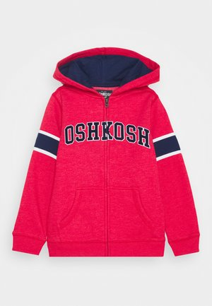 ZIP HOODIE - Zip-up hoodie - red