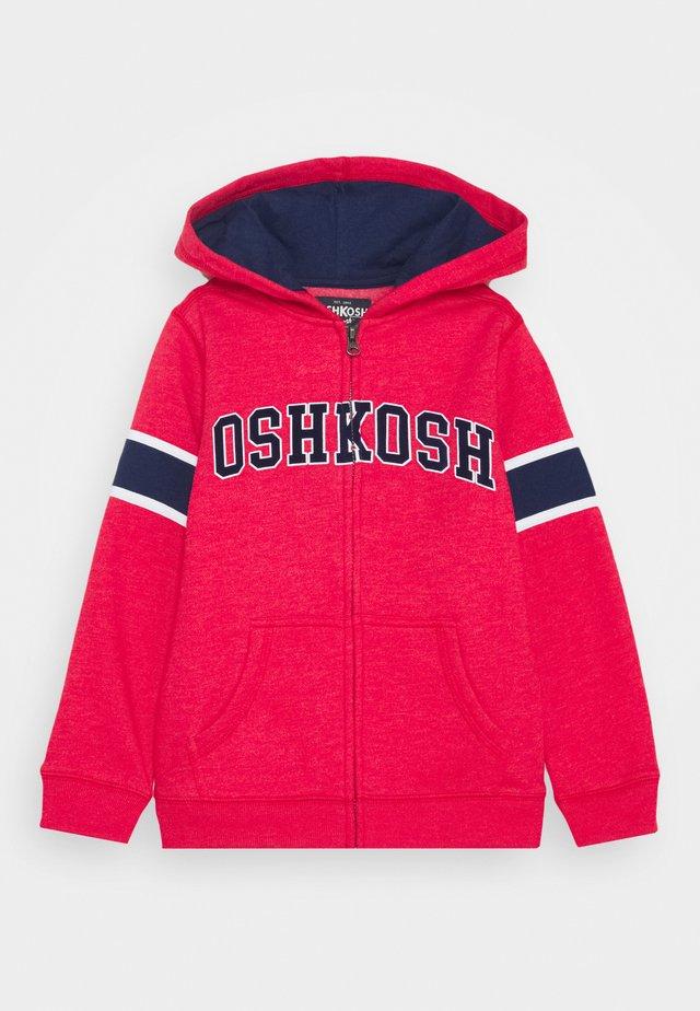 ZIP HOODIE - Zip-up hoodie - red