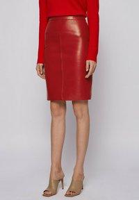 BOSS - Pencil skirt - dark red - 0
