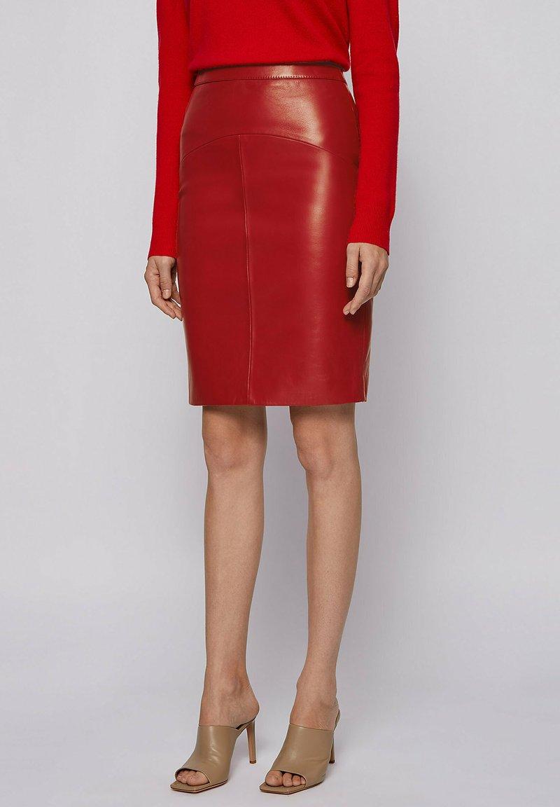 BOSS - Pencil skirt - dark red