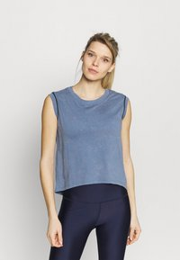 Under Armour - RUN ANYWHERE SHORT SLEEVE - Print T-shirt - mineral blue - 0