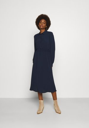 VMSAGA SMOCK CALF DRESS - Maxi dress - navy blazer
