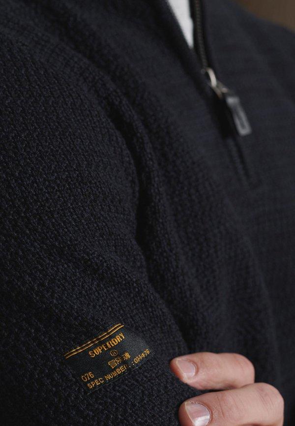 Superdry KEYSTONE - Sweter - downhill navy twist/niebieski Odzież Męska MZAL