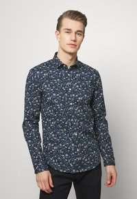 Lindbergh - FLORAL - Shirt - dark blue - 0