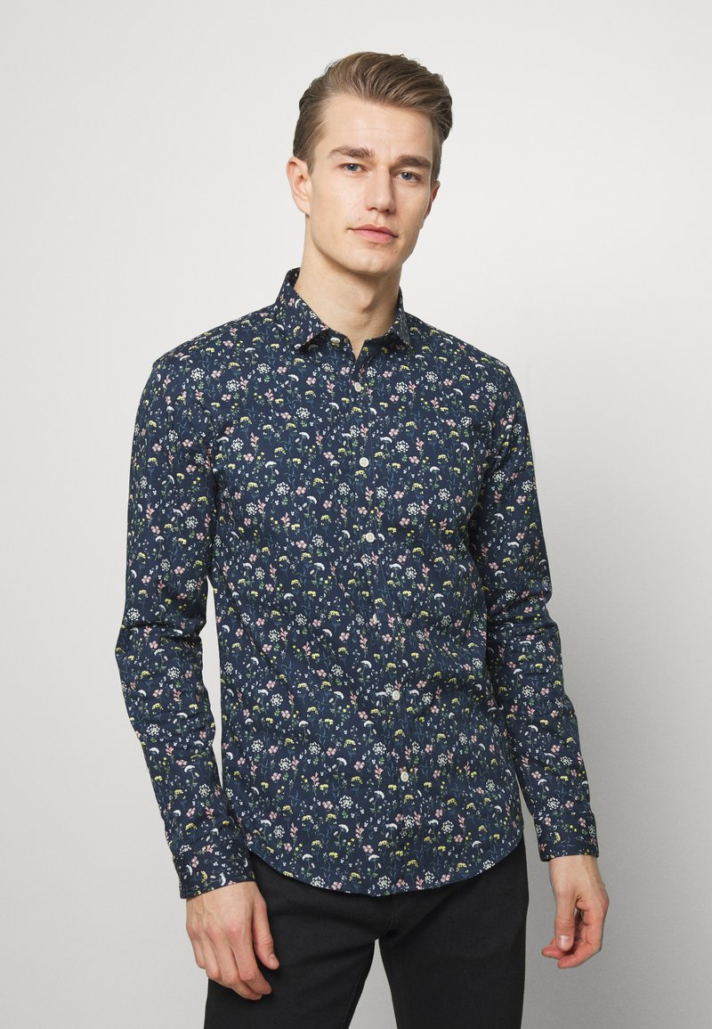 Lindbergh - FLORAL - Shirt - dark blue