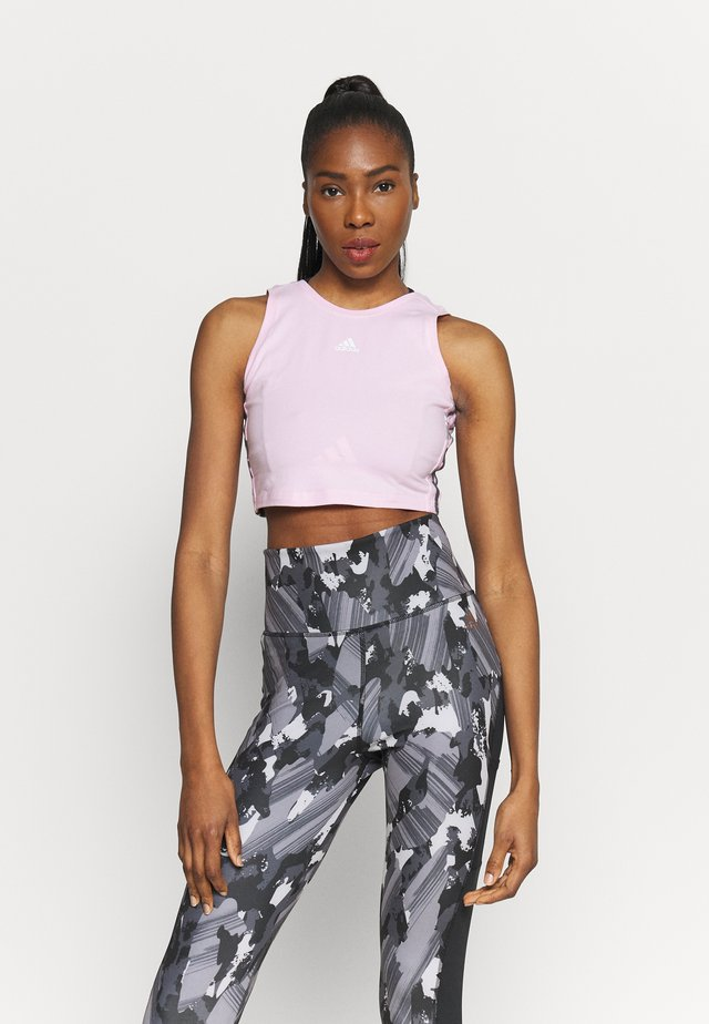 CAMO CRO - Top - clear pink/white