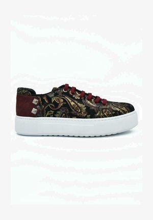 HAND MADE GENUINE  - Sneaker low - bordeaux paisley