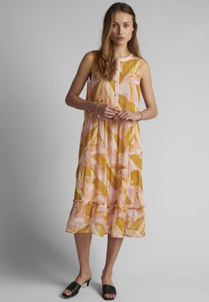 Shirt dress - peach skin