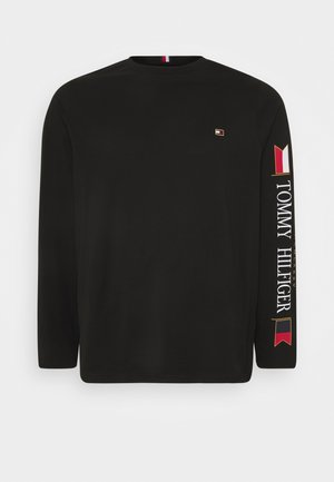 MIRRORED FLAGS LONG SLEEVE - Long sleeved top - black