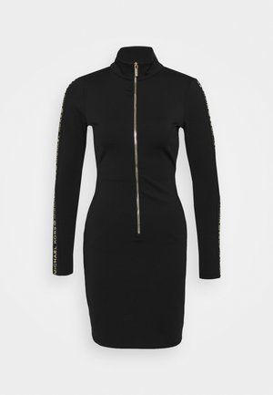 LOGO - Jersey dress - black/gold