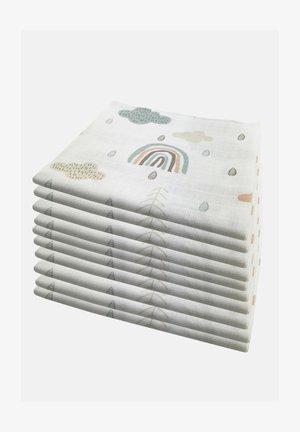 10 PACK  - Muslin blanket - 10 wolken grün