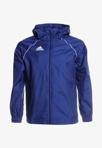 adidas Performance - CORE ELEVEN FOOTBALL JACKET - Giacca hard shell - dkblue/white - 0