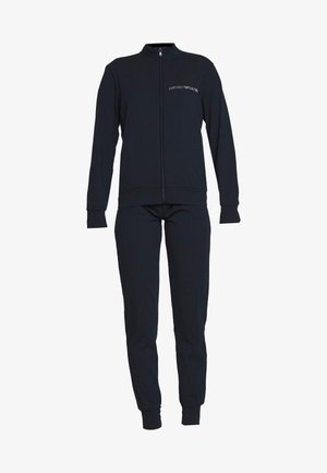 JACKET AND PANTS WITH CUFFS SET - Pyjamas - blu navy