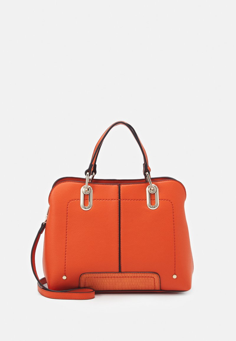 Dorothy Perkins - SMALL HARDWEAR TOTE BAG - Handbag - orange