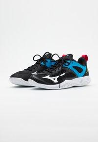 Mizuno - GHOST SHADOW - Handball shoes - black/white/diva blue - 1
