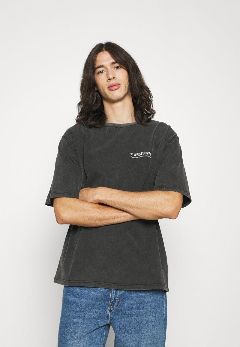 WRSTBHVR - CIRCLE VINTAGE UNISEX - Print T-shirt - vintage black