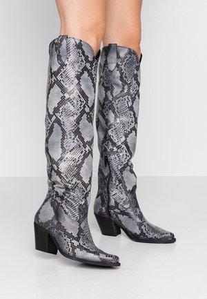LAREDO - Cowboy/Biker boots - krait black