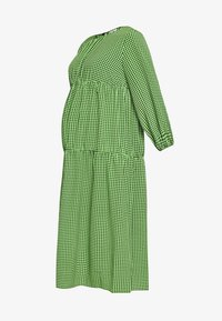 Topshop Maternity - SMOCK TIERED DRESS - Day dress - green/black - 4