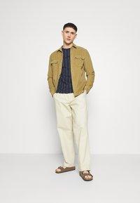 Hollister Co. - SCRIPT LOGO  - Camiseta estampada - navy stripe - 1