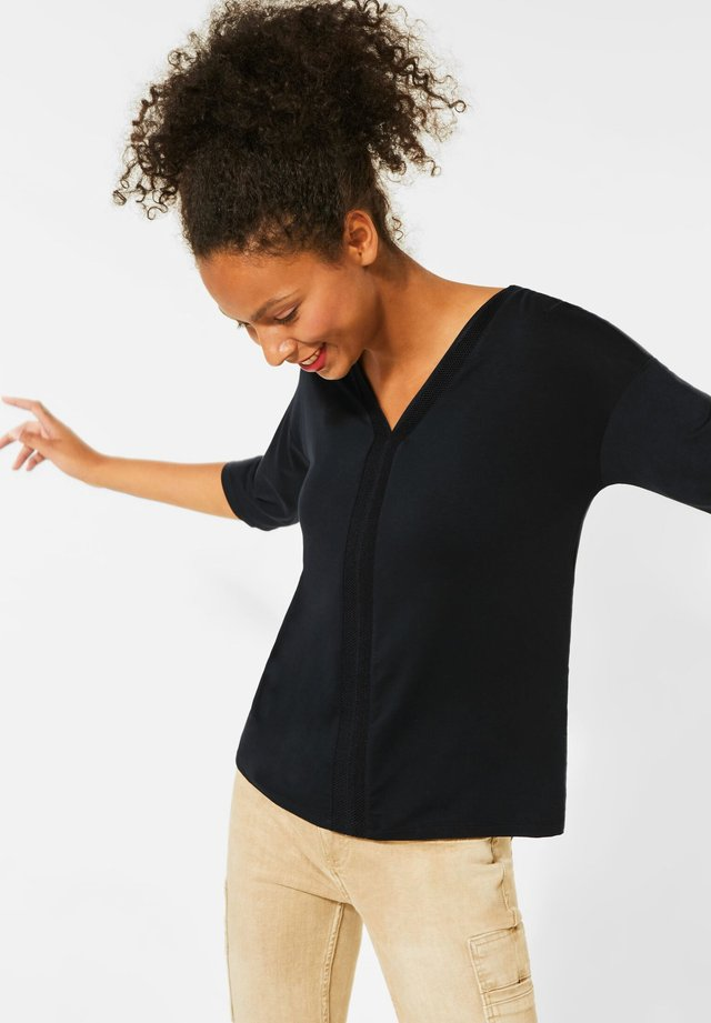 RIPP-DETAILS - Long sleeved top - schwarz