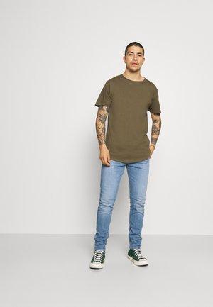 LONGY TEE 10 PACK - T-shirt basic - 2 white/ 2 black/ 1 dgm/ 1 lgm/ 1 navy/ 1 bordeaux/ 1 olive/ 1 light blue