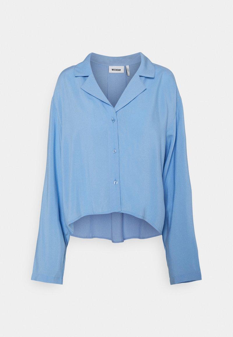 Weekday - FILIPPA BLOUSE - Skjorte - blue