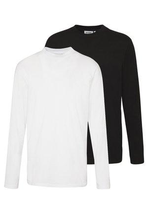 JAKE LONG SLEEVE 2 PACK - Top sdlouhým rukávem - black/white